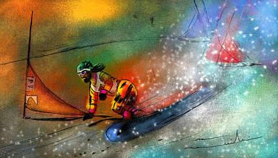 Snowboarding 02 Poster by Miki De Goodaboom