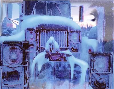 Snowbound Antique Truck Poster