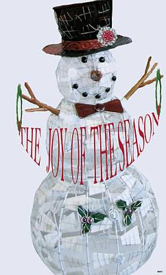 Snowman Season Card Poster