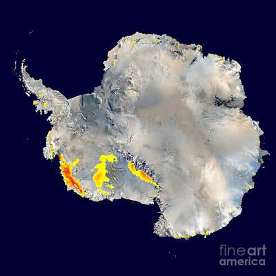 Snowmelt In Antarctica Poster by Nasa