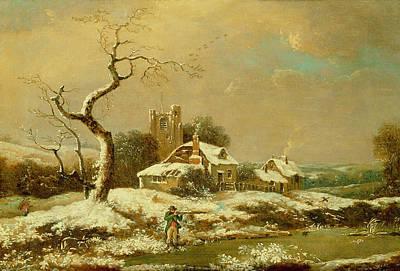 Snowy Landscape   Poster by John Cranch