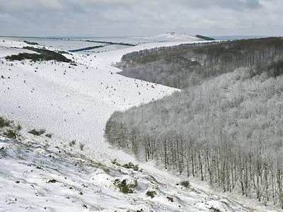 Snowy Landscape, Dorset Poster