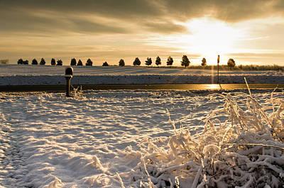 Snowy Sunrise Poster
