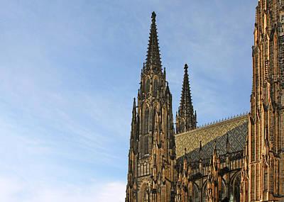 Soaring Spires Saint Vitus' Cathedral Prague Poster by Christine Till