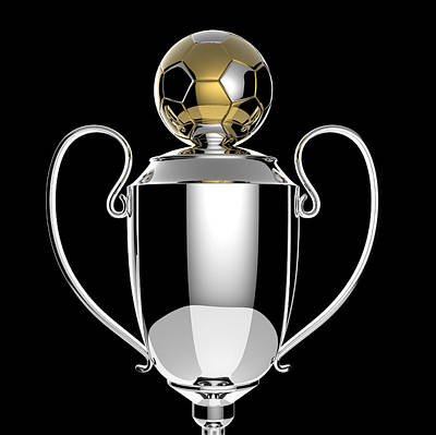 Soccer Golden Award Trophy. Poster by Kittisak Taramas