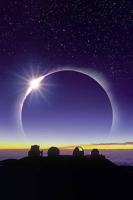 Solar Eclipse Poster by David Nunuk