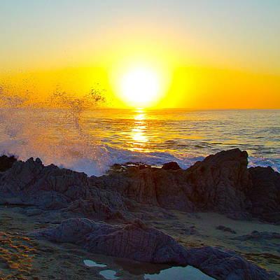 Solar Flare Sunrise On The Sea Of Cortez Poster by Karon Melillo DeVega