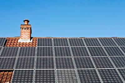 Solar Panels Poster by Tom Gowanlock