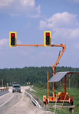 Solar-powered Traffic Lights Poster