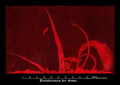 Solar Prominences, 19th Century Artwork Poster