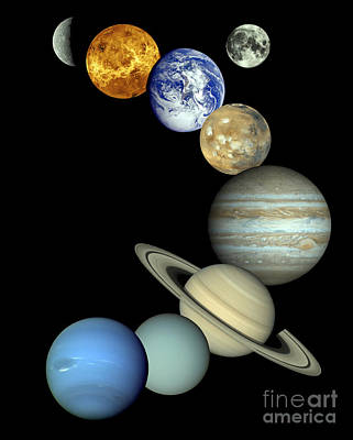 Solar System Montage Poster by Stocktrek Images