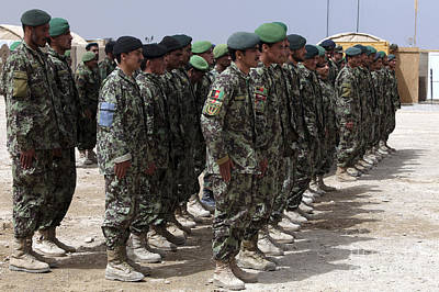 Soldiers Of The Afghan National Army Poster by Stocktrek Images