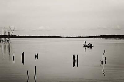 Solitude Fishing Manasquan Reservoir Poster