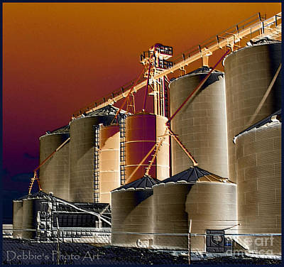 Soloized Grain Bins Poster by Debbie Portwood
