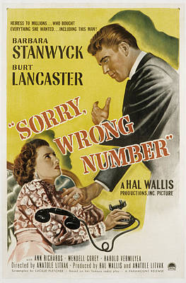 Sorry, Wrong Number, Barbara Stanwyck Poster