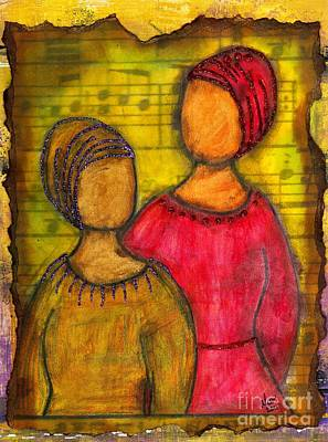 Soul Sistahs Sing Of Friendship Poster by Angela L Walker