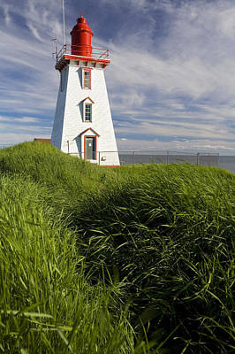 Souris Harbour Lighthouse, Souris Poster by John Sylvester