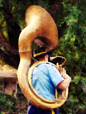 Sousaphone Marching Away Poster