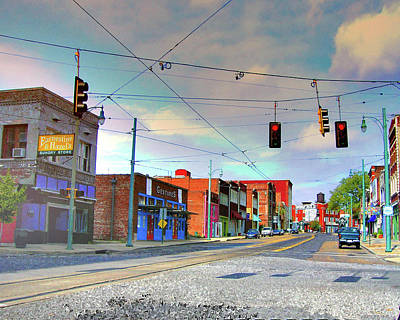 Poster featuring the photograph South Main Street Memphis by Lizi Beard-Ward