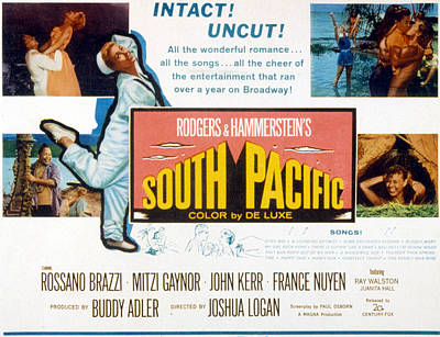South Pacific, Mitzi Gaynor, 1958 Poster by Everett
