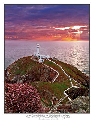 Poster featuring the photograph South Stack Lighthouse by Beverly Cash