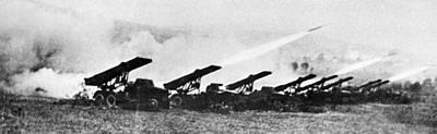 Soviet Katyusha Rocket Launchers, 1942 Poster