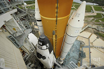 Space Shuttle Atlantis On The Launch Poster by Stocktrek Images