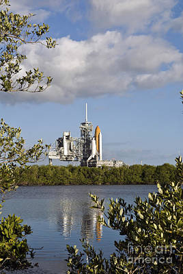 Space Shuttle Atlantis Sits Ready Poster by Stocktrek Images