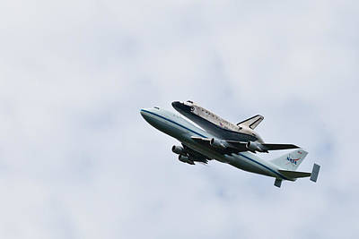 Space Shuttle Discovery Flyover Over The Washington D.c. Area  Poster by Dasha Rosato