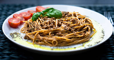 Spaghetti Bolognese Poster by Wojciech Wisniewski
