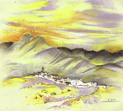 Spanish Mountain Village 01 Poster by Miki De Goodaboom