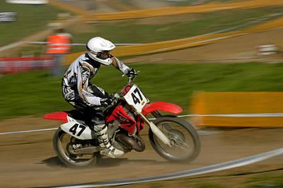 Speed - Motocross Rider Poster by Matthias Hauser