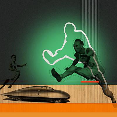Speed Monsters Poster by Naxart Studio
