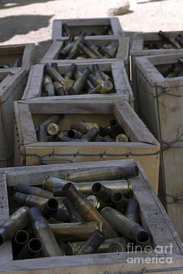 Spent .50-caliber Machine Gun Shell Poster