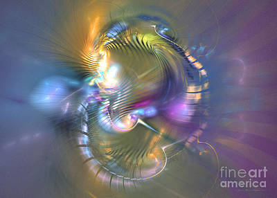 Spirit Of Nobility - Abstract Digital Art Poster by Sipo Liimatainen