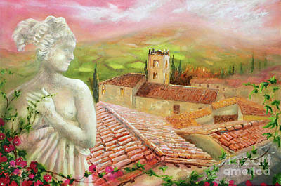 Poster featuring the painting Spirit Of Tuscany by Michael Rock