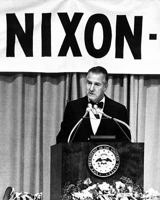 Spiro Agnew Speaking In Front Poster