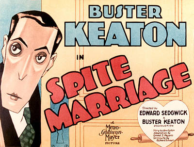 Spite Marriage, Buster Keaton, 1929 Poster by Everett