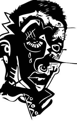 Splatter Man Poster by Kamoni Khem