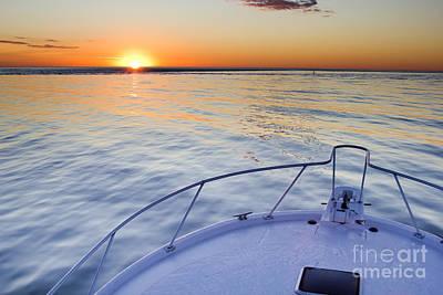 Sportfish Sunrise On The Atlantic Poster