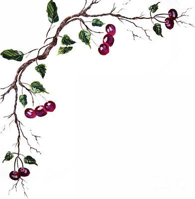 Spray Of Cherries Poster