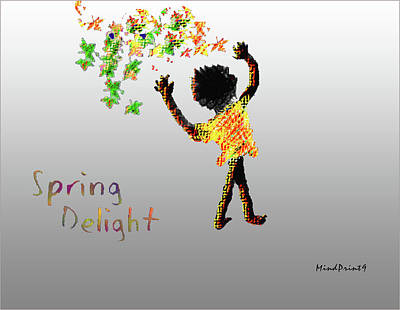 Poster featuring the digital art Spring Delight by Asok Mukhopadhyay