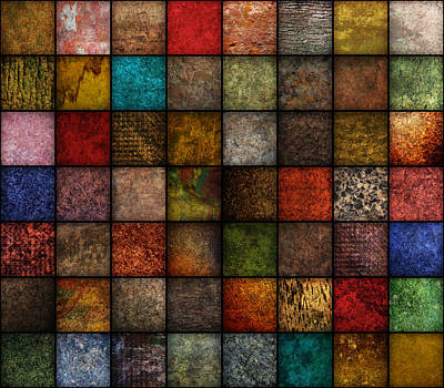 Square Earth Tone Texture Background Poster by Angela Waye