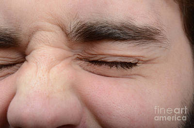 Squinting Eyes Poster by Photo Researchers, Inc.