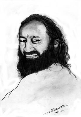 Sri Sri Ravishankar Guruji Poster by Shashi Kumar