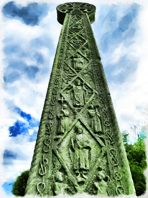 Poster featuring the photograph St Augustines Cross Close Up by Steve Taylor
