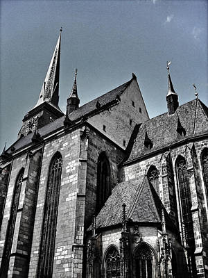 St. Bartholomew Cathedral - Pilsen Poster by Juergen Weiss