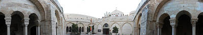 St. Catherine Court In Bethlehem Poster by Munir Alawi