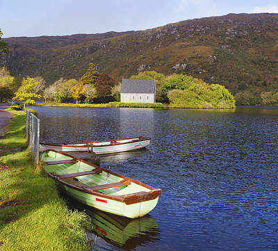 St. Finbarres Oratory And Rowing Boats Poster