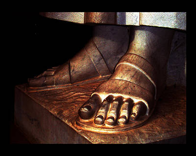 Poster featuring the photograph St. Francis Of Assisi's Sacred Feet by Susanne Still